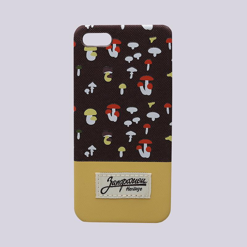 Чехол iPhone 5/5s Запорожец heritage ГрибочкиДругое<br>Пластик, текстиль<br><br>Цвет: Коричневый, бежевый<br>Размеры : OS