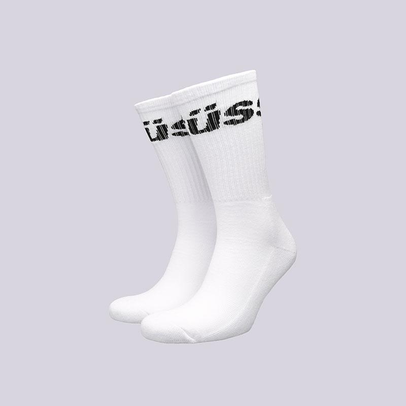 Носки Stussy Jacquard Logo SocksНоски<br>Хлопок, полиамид, эластан<br><br>Цвет: Белый<br>Размеры US: OS<br>Пол: Мужской