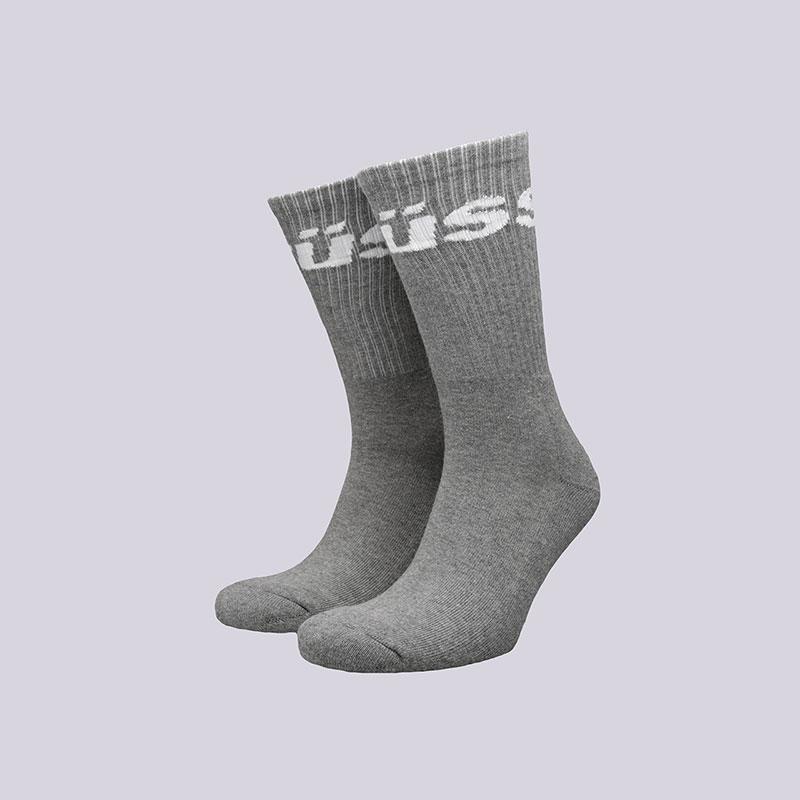 Носки Stussy Jacquard Logo SocksНоски<br>Хлопок, полиамид, эластан<br><br>Цвет: Серый<br>Размеры US: OS<br>Пол: Мужской