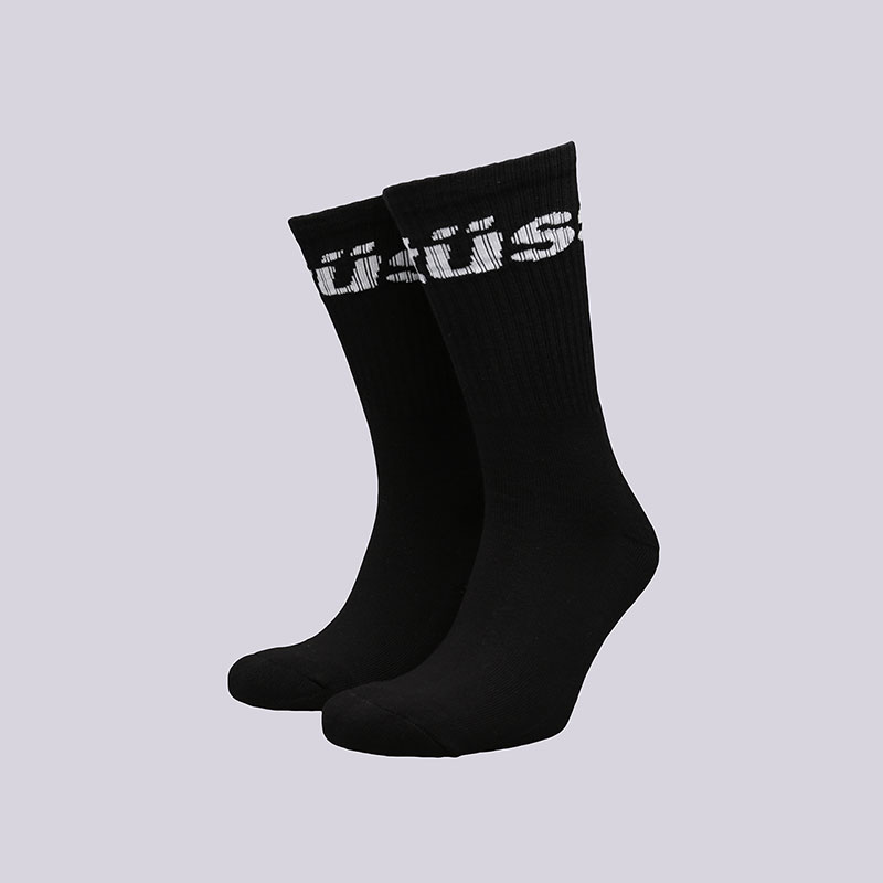 Носки Stussy Jacquard Logo SocksНоски<br>Хлопок, полиамид, эластан<br><br>Цвет: Черный<br>Размеры US: OS<br>Пол: Мужской