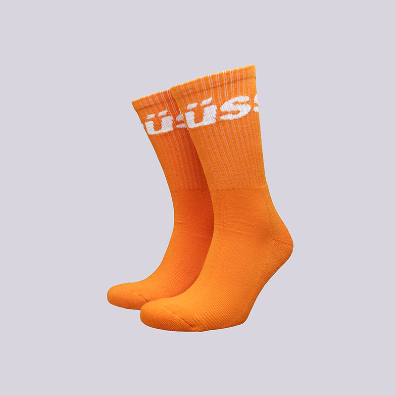 Носки Stussy Jacquard Logo SocksНоски<br>Хлопок, полиамид, эластан<br><br>Цвет: Оранжевый<br>Размеры US: OS<br>Пол: Мужской