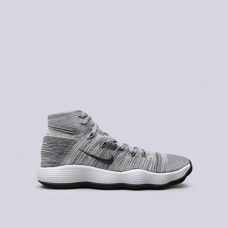 Кроссовки  Nike Hyperdunk 2017 FlyknitКроссовки баскетбольные<br>Текстиль, резина<br><br>Цвет: Серый<br>Размеры US: 7.5;8;8.5;9;9.5;11<br>Пол: Мужской