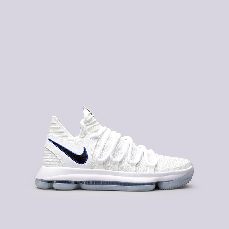 Кроссовки  Nike Zoom KD 10Кроссовки баскетбольные<br>Текстиль, резина<br><br>Цвет: Белый<br>Размеры US: 7.5;8;8.5;9;9.5;10;10.5;11;11.5;12<br>Пол: Мужской