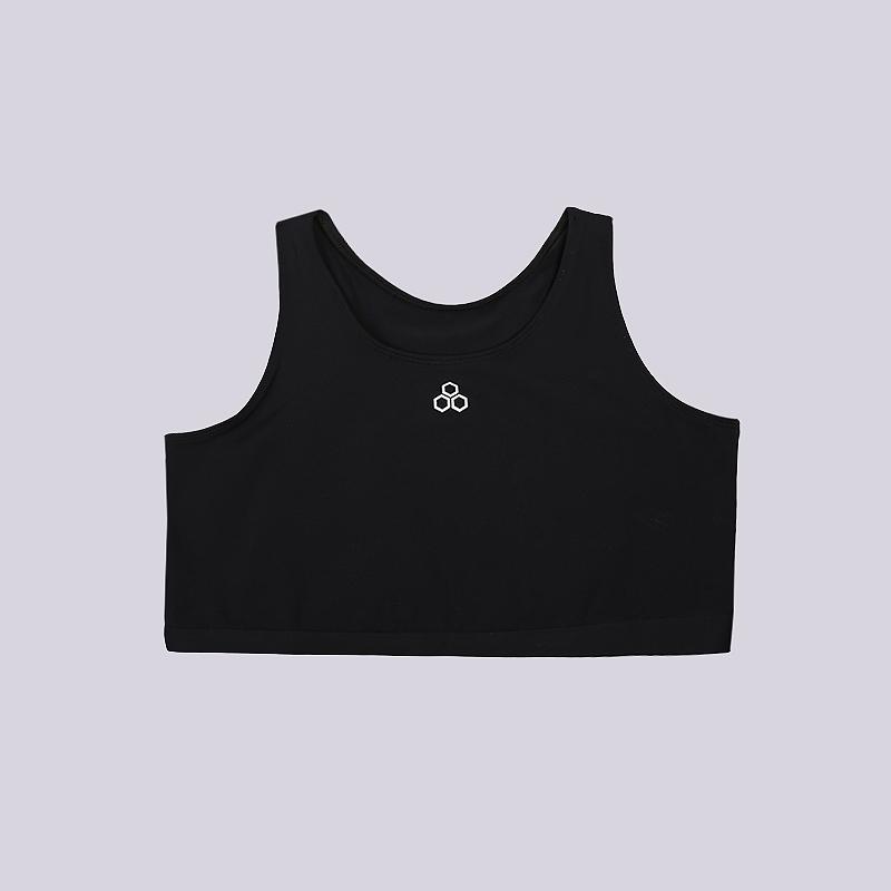 Топ Mcdavid Sports BraКомпрессионное белье<br>88% суплекс, 12% спандекс<br><br>Цвет: Черный<br>Размеры US: 2XL<br>Пол: Женский