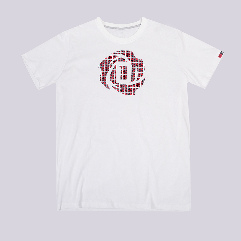 Футболка adidas Rose Logo TeeФутболки<br>70% хлопок,, 30% полиэстер<br><br>Цвет: Белый<br>Размеры UK: XL<br>Пол: Мужской