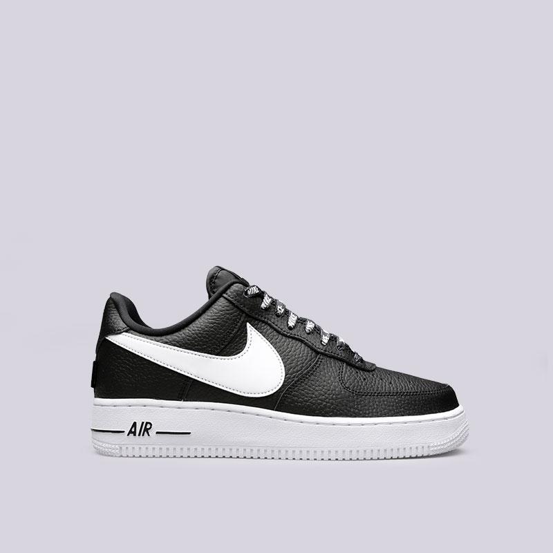 Кроссовки Nike Air Force 1 07 LV8Кроссовки lifestyle<br>Кожа, текстиль, резина<br><br>Цвет: Черный<br>Размеры US: 8.5;11;12;12.5<br>Пол: Мужской