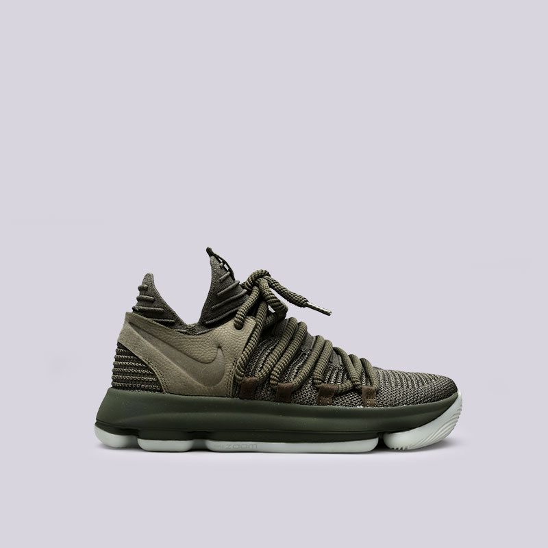 Кроссовки Nike Zoom KD 10 NLКроссовки баскетбольные<br>Текстиль, резина<br><br>Цвет: Зелёный<br>Размеры US: 7;9.5;10;10.5;11;11.5<br>Пол: Мужской
