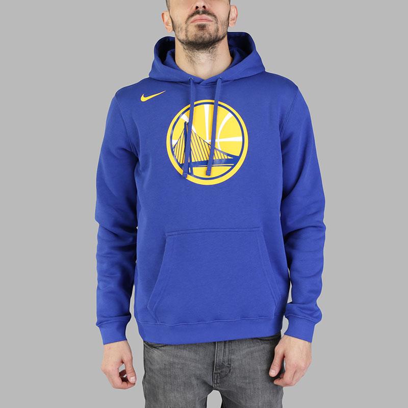 Толстовка Nike Golden State Warriors Hoodie Club LogoТолстовки свитера<br>Хлопок, полиэстер<br><br>Цвет: Синий<br>Размеры US: S;M;L;XL;2XL<br>Пол: Мужской