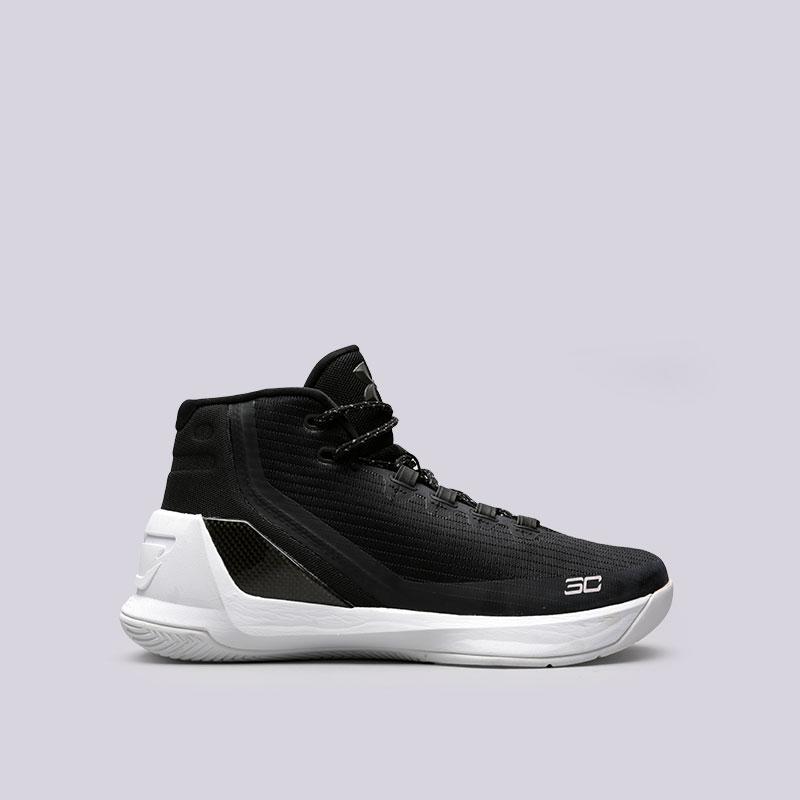 Кроссовки  Under armour UA Curry 3Кроссовки баскетбольные<br>Текстиль, синтетика, резина<br><br>Цвет: Черный<br>Размеры : 8.5;9;11.5;12<br>Пол: Мужской