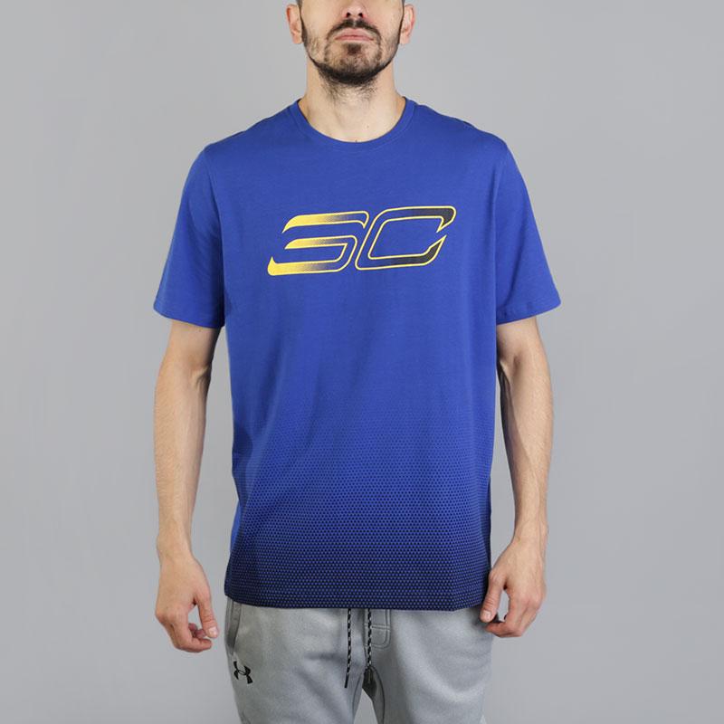 Футболка Under armour SC30 Faded Logo TeeФутболки<br>Хлопок, полиэстер<br><br>Цвет: Синий<br>Размеры US: XL<br>Пол: Мужской
