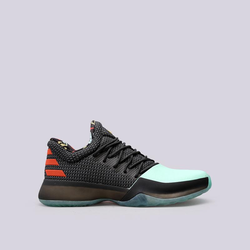 Кроссовки adidas Harden Vol.1Кроссовки баскетбольные<br>Кожа, текстиль, резина<br><br>Цвет: Серый, голубой<br>Размеры UK: 9.5<br>Пол: Мужской