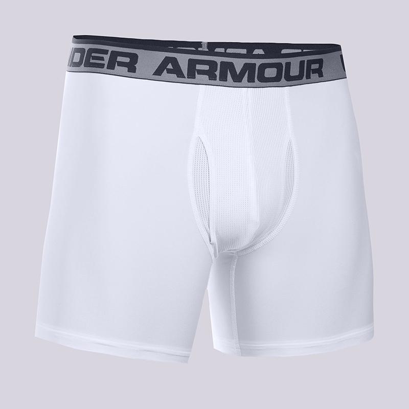 Компрессионные боксеры Under armour BoxerjockКомпрессионное белье<br>90% полиэстер, 10% эластан<br><br>Цвет: Белый<br>Размеры : S;M;L;XL<br>Пол: Мужской