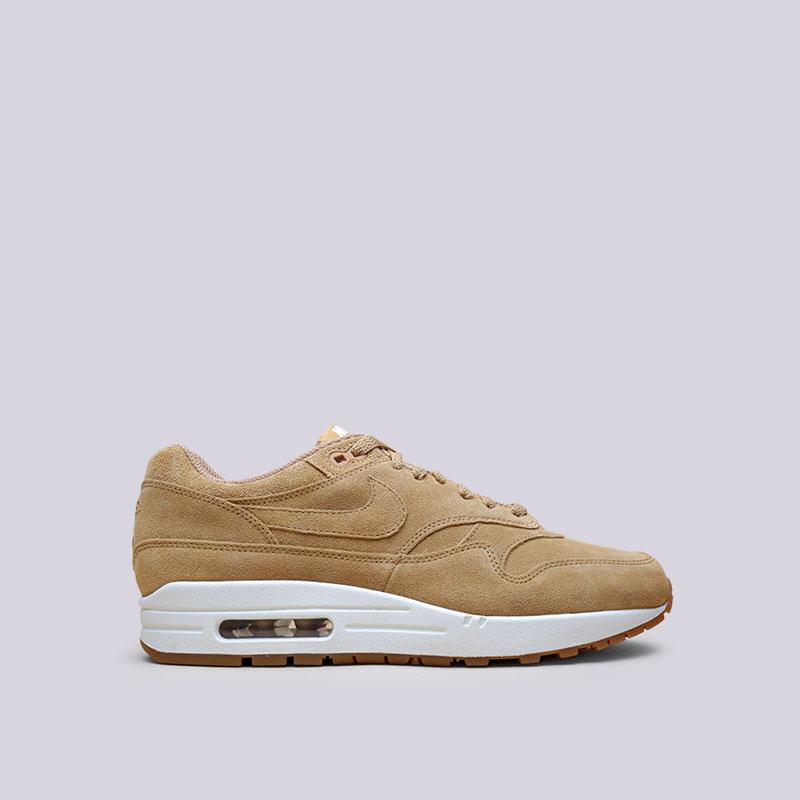 Кроссовки Nike Sportswear Air Max 1 PremiumКроссовки lifestyle<br>Кожа, текстиль, резина<br><br>Цвет: Коричневый<br>Размеры US: 8;8.5;9;9.5;10;10.5;11;11.5;12<br>Пол: Мужской