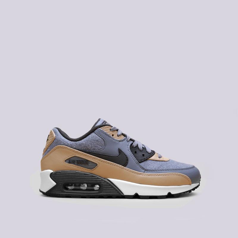 Кроссовки Nike Air Max 90 PremiumКроссовки lifestyle<br>Кожа, синтетика, текстиль, резина<br><br>Цвет: Серый<br>Размеры US: 8;8.5;10;11;13;15<br>Пол: Мужской