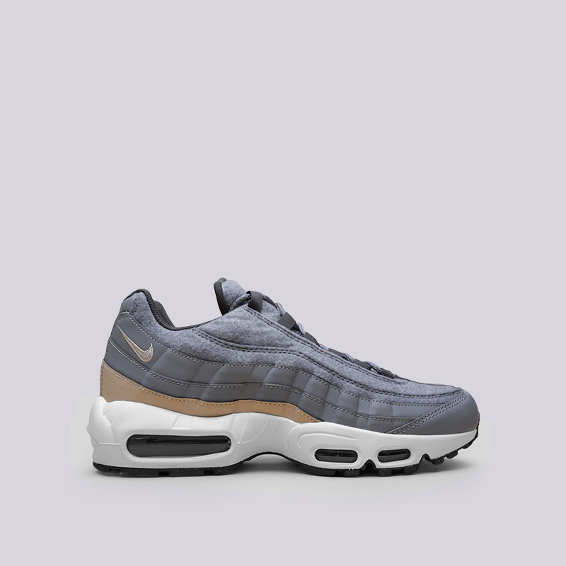 Кроссовки Nike Air Max 95 PRMКроссовки lifestyle<br>Синтетика, текстиль, резина, пластик<br><br>Цвет: Серый<br>Размеры US: 8;9.5;10.5;11;11.5;12;13;15<br>Пол: Мужской
