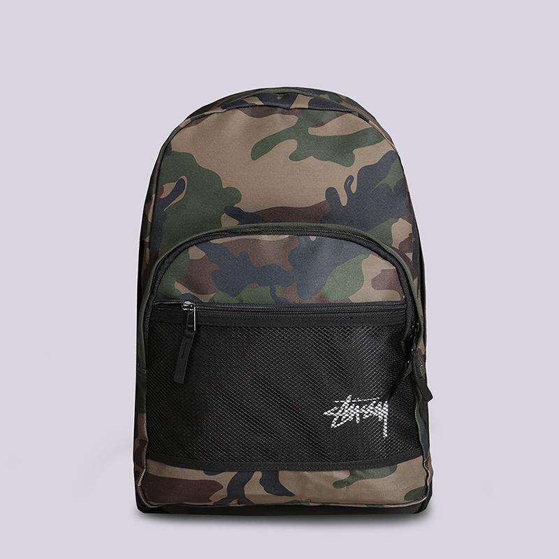 Рюкзак Stussy Stock Backpack 18LСумки, рюкзаки<br>Полиэстер<br><br>Цвет: Зеленый<br>Размеры US: OS