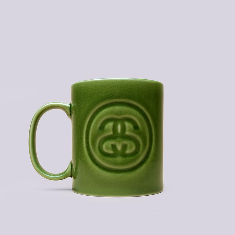 Кружка Stussy SS Crackes MugДругое<br>Керамика<br><br>Цвет: Зелёный<br>Размеры US: OS