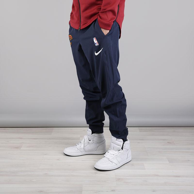 мужские синие  брюки nike cleveland cavaliers showtime pant 859133-451 - цена, описание, фото 1