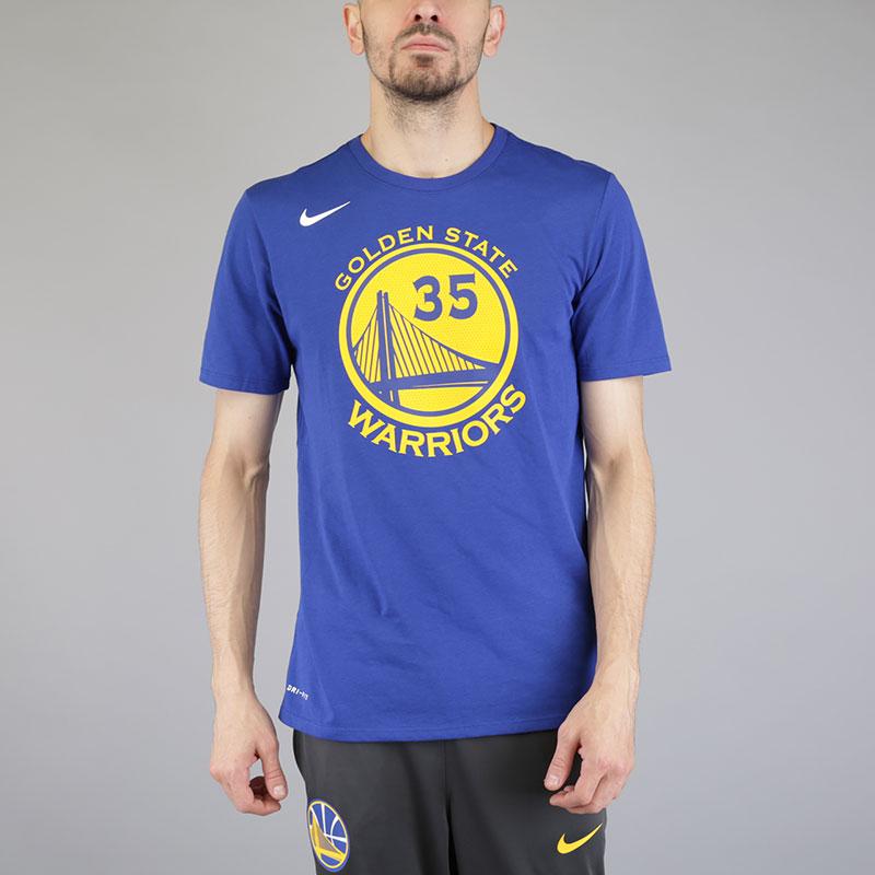 Футболка Nike Kevin Durant Golden State Warriors Dry TeeФутболки<br>Хлопок, полиэстер<br><br>Цвет: Синий<br>Размеры US: S;M;L;XL;2XL<br>Пол: Мужской