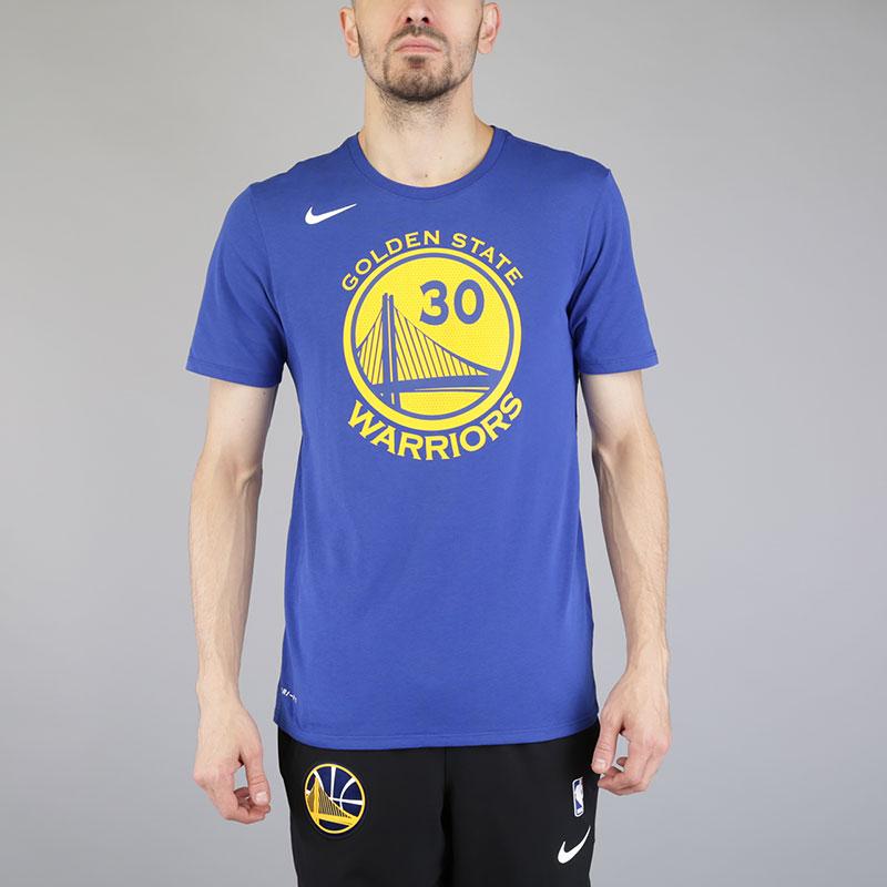 Футболка Nike Stephen Curry Golden State Warriors Dry TeeФутболки<br>Хлопок, полиэстер<br><br>Цвет: Синий<br>Размеры US: M;L;XL;2XL<br>Пол: Мужской