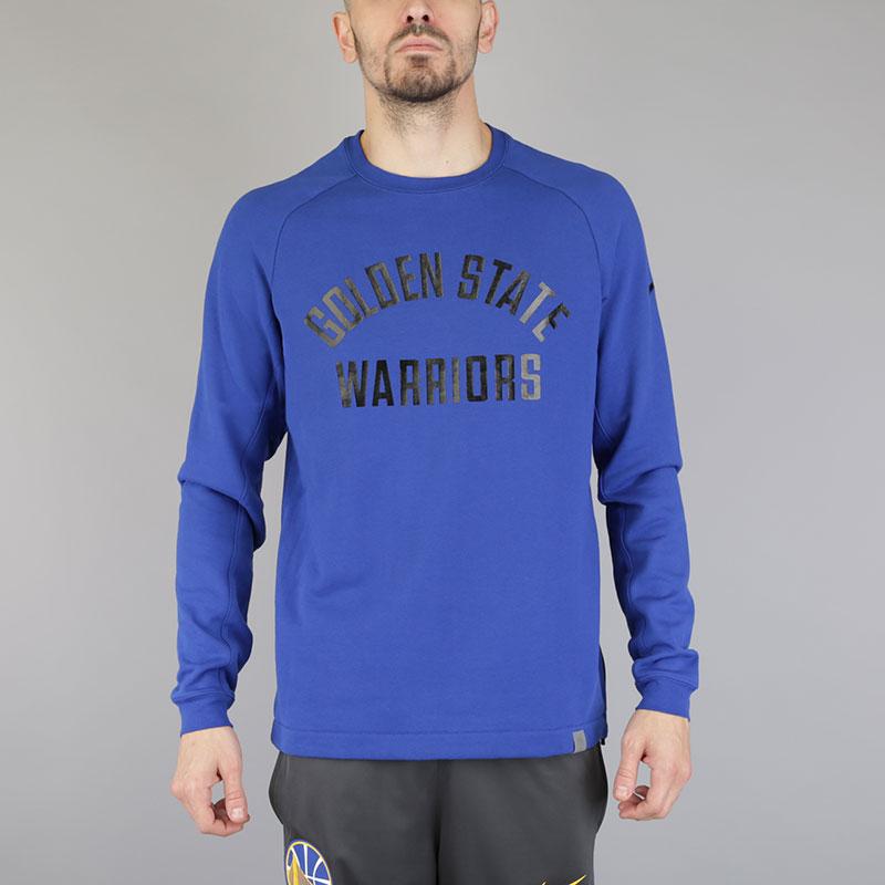 Толстовка Nike GS Warriors Modern CrewТолстовки свитера<br>Хлопок, полиэстер<br><br>Цвет: Синий<br>Размеры US: S;M;L;XL;2XL<br>Пол: Мужской
