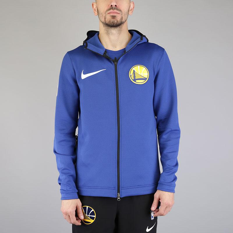 Толстовка Nike GSW ThermaFlex ShowtimeТолстовки свитера<br>Полиэстер, эластан<br><br>Цвет: Синий<br>Размеры US: S;M;L;XL;2XL<br>Пол: Мужской