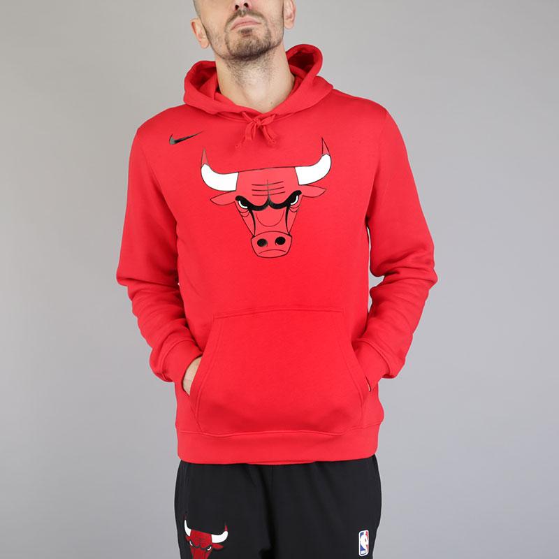 Толстовка Nike Chicago Bulls HoodieТолстовки свитера<br>Хлопок, полиэстер<br><br>Цвет: Красный<br>Размеры US: M;L;2XL<br>Пол: Мужской