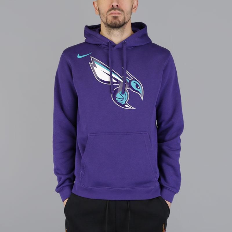 Толстовка Nike Hornets HoodieТолстовки свитера<br>Хлопок, полиэстер<br><br>Цвет: Фиолетовый<br>Размеры US: S;L;XL<br>Пол: Мужской