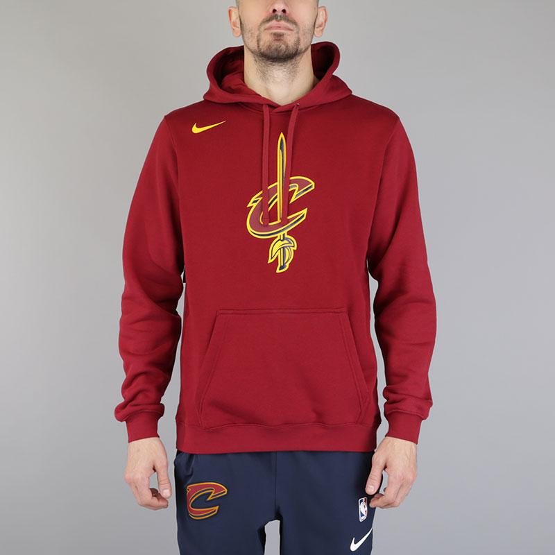 Толстовка Nike Cleveland Cavaliers HoodieТолстовки свитера<br>Хлопок, полиэстер<br><br>Цвет: Бордовый<br>Размеры US: S;M;L;XL;2XL<br>Пол: Мужской
