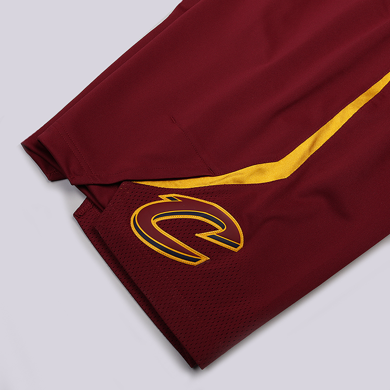 мужские бордовые  шорты nike cleveland cavaliers icon edition authentic nba shorts 866375-677 - цена, описание, фото 2