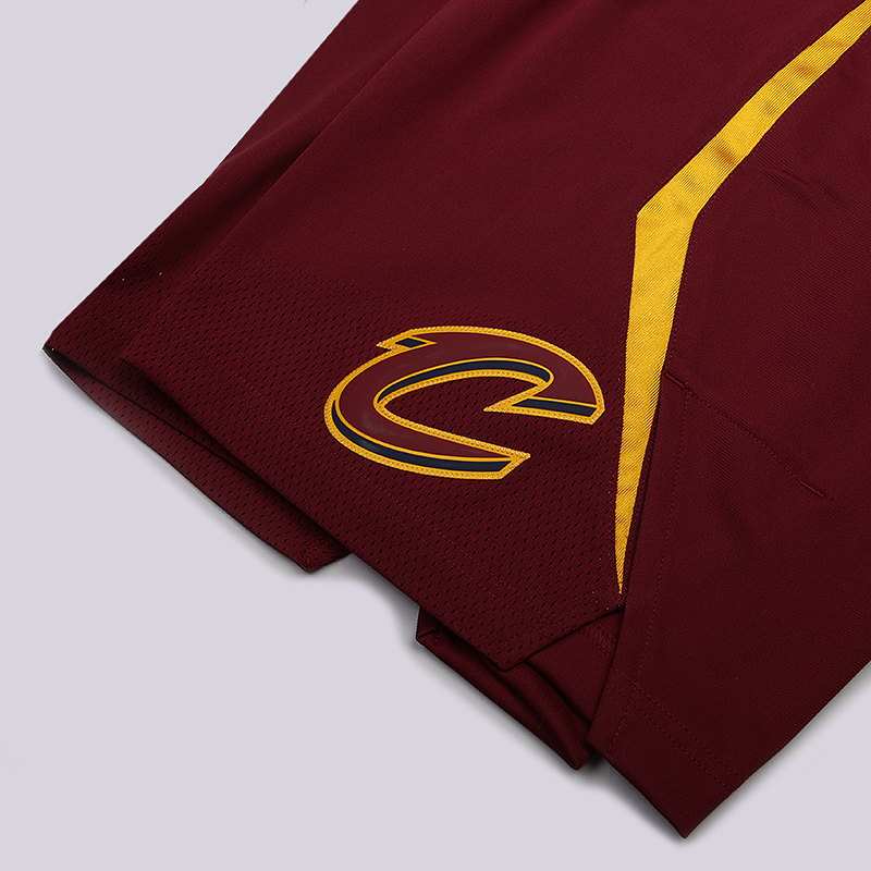мужские бордовые  шорты nike cleveland cavaliers icon edition authentic nba shorts 866375-677 - цена, описание, фото 3