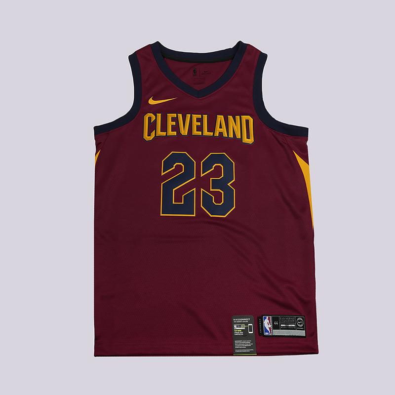 Майка Nike Cleveland Cavaliers NBA Lebron JamesБезрукавки<br>100% полиэстер<br><br>Цвет: Бордовый<br>Размеры US: S;M;L;XL;2XL<br>Пол: Мужской