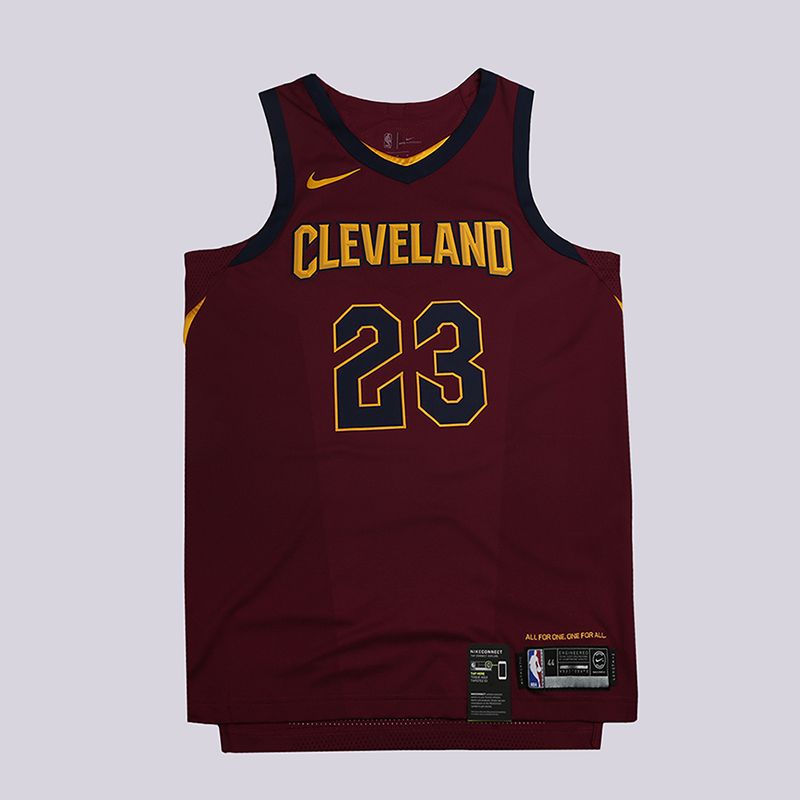 Майка Nike Lebron James Icon Edition Authentic JerseyБезрукавки<br>100% полиэстер<br><br>Цвет: Бордовый<br>Размеры US: 52;56<br>Пол: Мужской