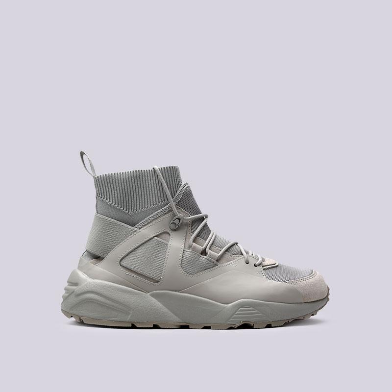 Кроссовки Puma BOG Sock SNKB Rubber HANКроссовки lifestyle<br>Кожа, текстиль, резина<br><br>Цвет: Серый<br>Размеры UK: 6;8.5