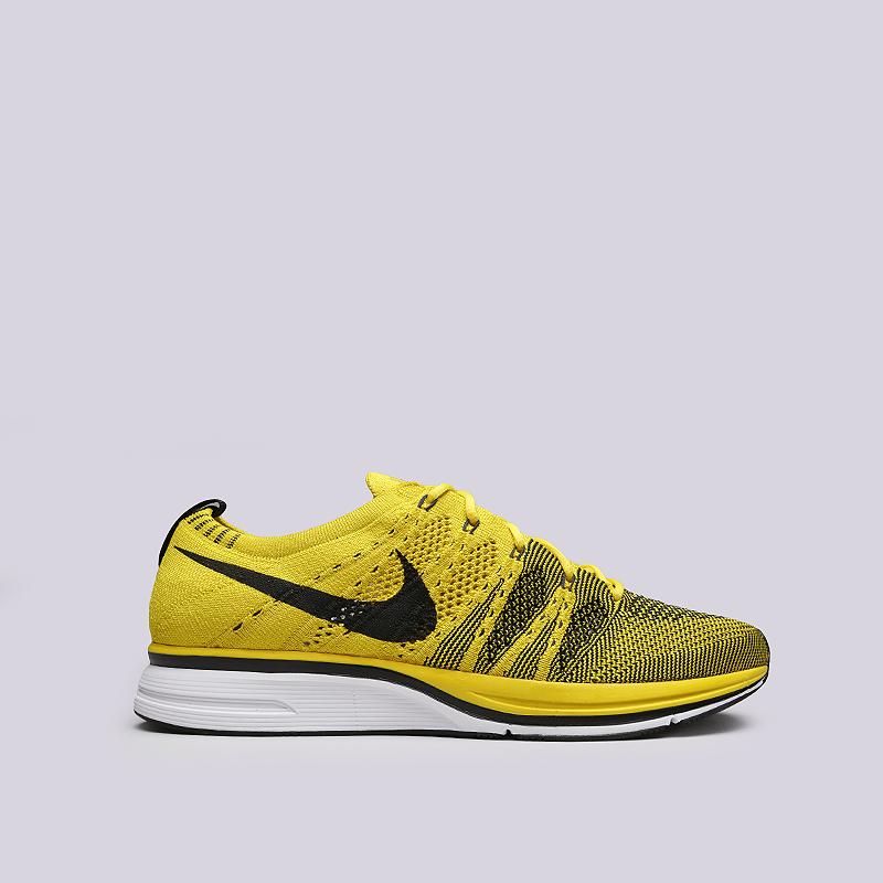 Кроссовки Nike Flyknit TrainerКроссовки lifestyle<br>Текстиль, резина<br><br>Цвет: Желтый<br>Размеры US: 8;8.5;9;9.5;10;10.5;11<br>Пол: Мужской
