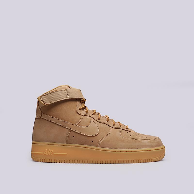 Кроссовки Nike Air Force 1 High `07 LV8 WBКроссовки lifestyle<br>Кожа, текстиль, резина<br><br>Цвет: Бежевый<br>Размеры US: 11.5<br>Пол: Мужской
