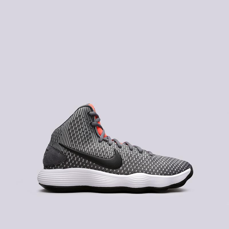 Кроссовки  Nike Hyperdunk 2017Кроссовки баскетбольные<br>Текстиль, пластик, резина<br><br>Цвет: Серый<br>Размеры US: 7;7.5;8;8.5;9;9.5;10;11;11.5;12;12.5;13;13.5;14;15<br>Пол: Мужской