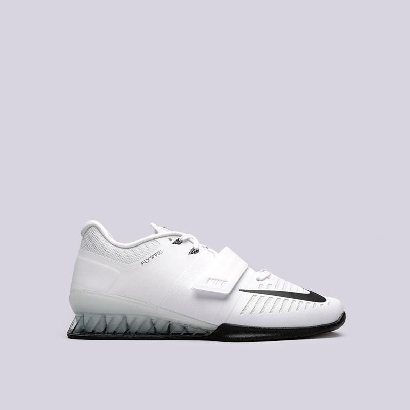 Кроссовки Nike Romaleos 3Кроссовки lifestyle<br>Пластик, текстиль, резина<br><br>Цвет: Белый<br>Размеры US: 8;8.5;11;11.5;12;13;14<br>Пол: Мужской