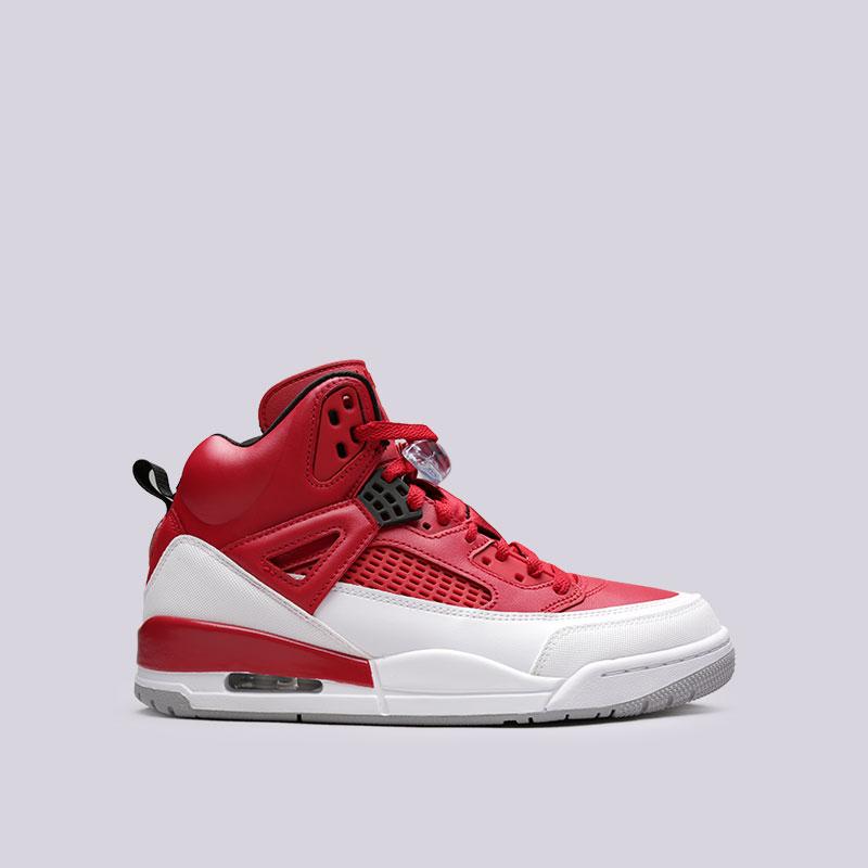 Кроссовки Jordan SpizikeКроссовки lifestyle<br>Синтетика, кожа, текстиль, резина<br><br>Цвет: Красный<br>Размеры US: 10.5;14<br>Пол: Мужской