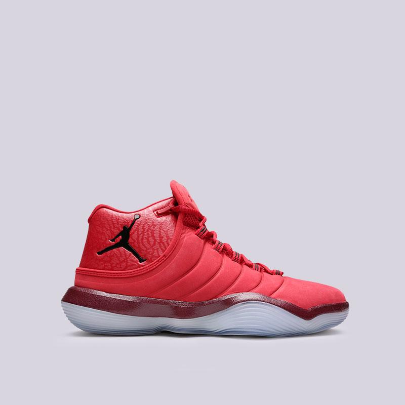 Кроссовки Jordan Super.Fly 2017Кроссовки баскетбольные<br>Кожа, синтетика, текстиль, резина<br><br>Цвет: Красный<br>Размеры US: 7.5;8;8.5;9;9.5;10;11.5;13<br>Пол: Мужской