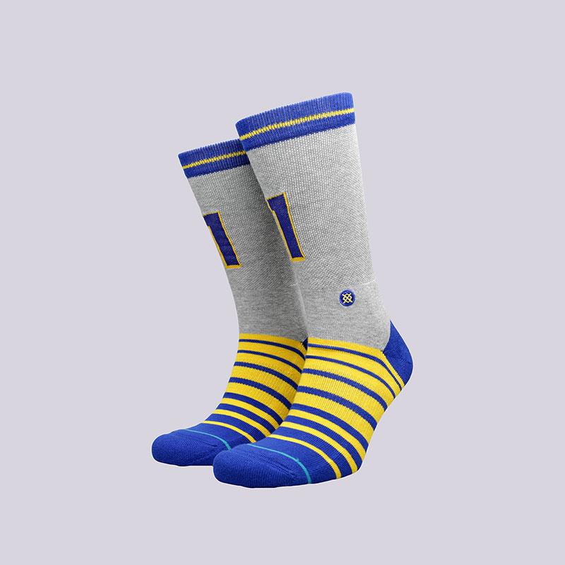 Носки Stance Two TimeНоски<br>Хлопок, эластан, нейлон<br><br>Цвет: Серый, синий, жёлтый<br>Размеры : L<br>Пол: Мужской