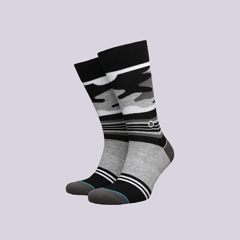 Носки Stance Harden CamoНоски<br>Хлопок, эластан, нейлон<br><br>Цвет: Серый, чёрный<br>Размеры : L<br>Пол: Мужской