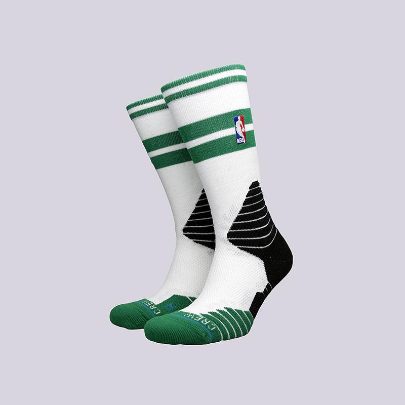 Носки Stance Core Crew CelticsНоски<br>Полиэстер, нейлон, спандекс, хлопок<br><br>Цвет: Белый, зелёный, чёрный<br>Размеры : L<br>Пол: Мужской
