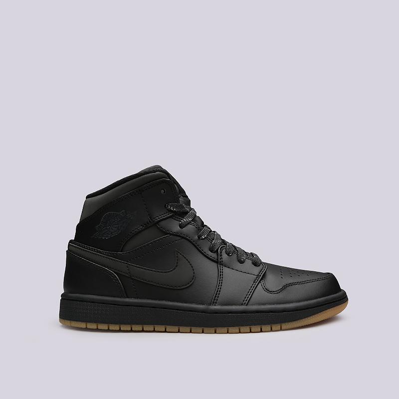 Кроссовки Jordan 1 Mid WinterizedКроссовки lifestyle<br>Кожа, синтетика, текстиль, резина<br><br>Цвет: Черный<br>Размеры US: 8.5<br>Пол: Мужской