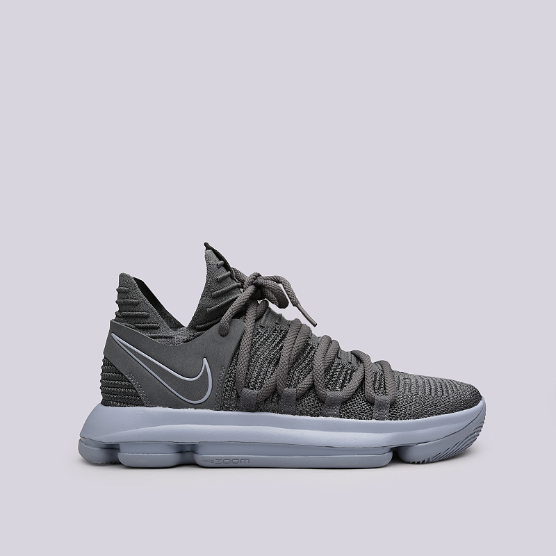 Кроссовки Nike Zoom KD10Кроссовки lifestyle<br>Текстиль, резина<br><br>Цвет: Серый<br>Размеры US: 8;8.5;9;9.5;10;10.5;11;11.5;12;13;13.5<br>Пол: Мужской