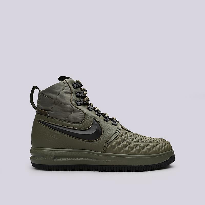 Ботинки Nike LF1 Duckboot `17Ботинки<br>Кожа, синтетика, текстиль, резина<br><br>Цвет: Зеленый<br>Размеры US: 8;8.5;9;10.5;11;11.5<br>Пол: Мужской