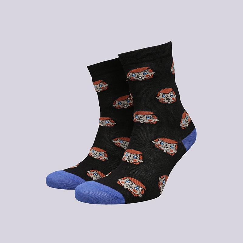 женские черные  носки запорожец heritage дядя федор WДядя Федор-черн - цена, описание, фото 1
