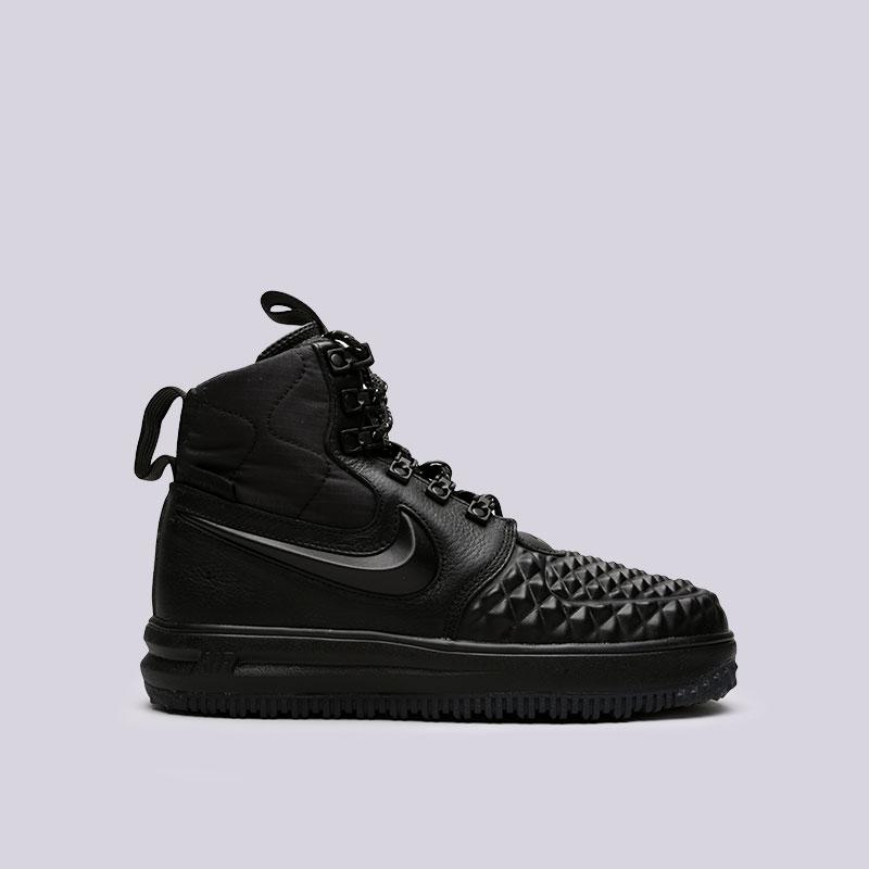 Кроссовки Nike WMNS Lunar Force 1 DuckbootКроссовки lifestyle<br>Кожа, синтетика, текстиль, резина<br><br>Цвет: Черный<br>Размеры US: 6;6.5;7;8;8.5;9<br>Пол: Женский