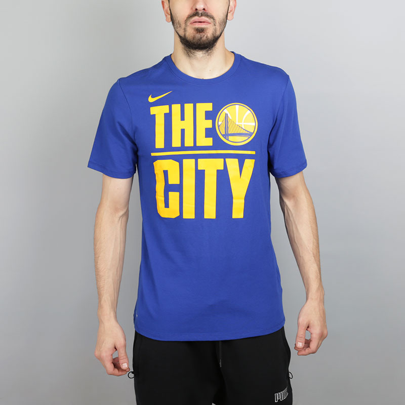 Футболка Nike Golden State Warriors DryФутболки<br>Хлопок, полиэстер<br><br>Цвет: Синий<br>Размеры US: S;M;L;XL;2XL<br>Пол: Мужской
