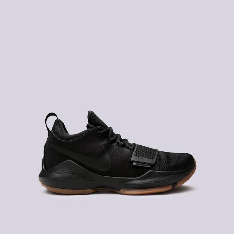 Кроссовки Nike PG 1Кроссовки баскетбольные<br>Кожа, текстиль, пластик, резина<br><br>Цвет: Черный<br>Размеры US: 7;7.5;8;8.5;9;9.5;10;11<br>Пол: Мужской